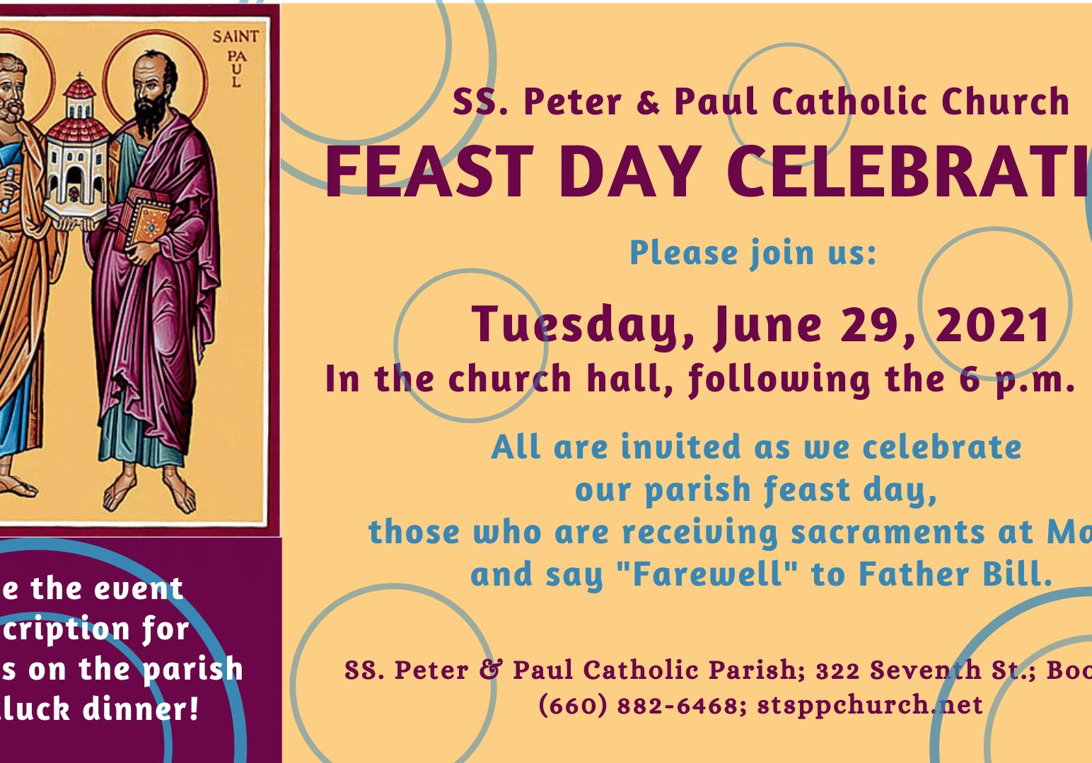 Feast Day Celebration 062921